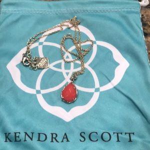 Kendra Scott Kiri red and gold pendant necklace